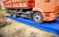 Взвешивание камаза с зерном на автомобильных весах ВАЛ 40 тонн с бетонными въездными пандусами. фото #3
