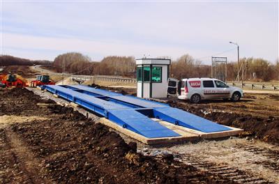Платформенные автомобильные весы ВАЛ. Вариант установки на дорожные плиты и песчано гравийную подушку. фото #5