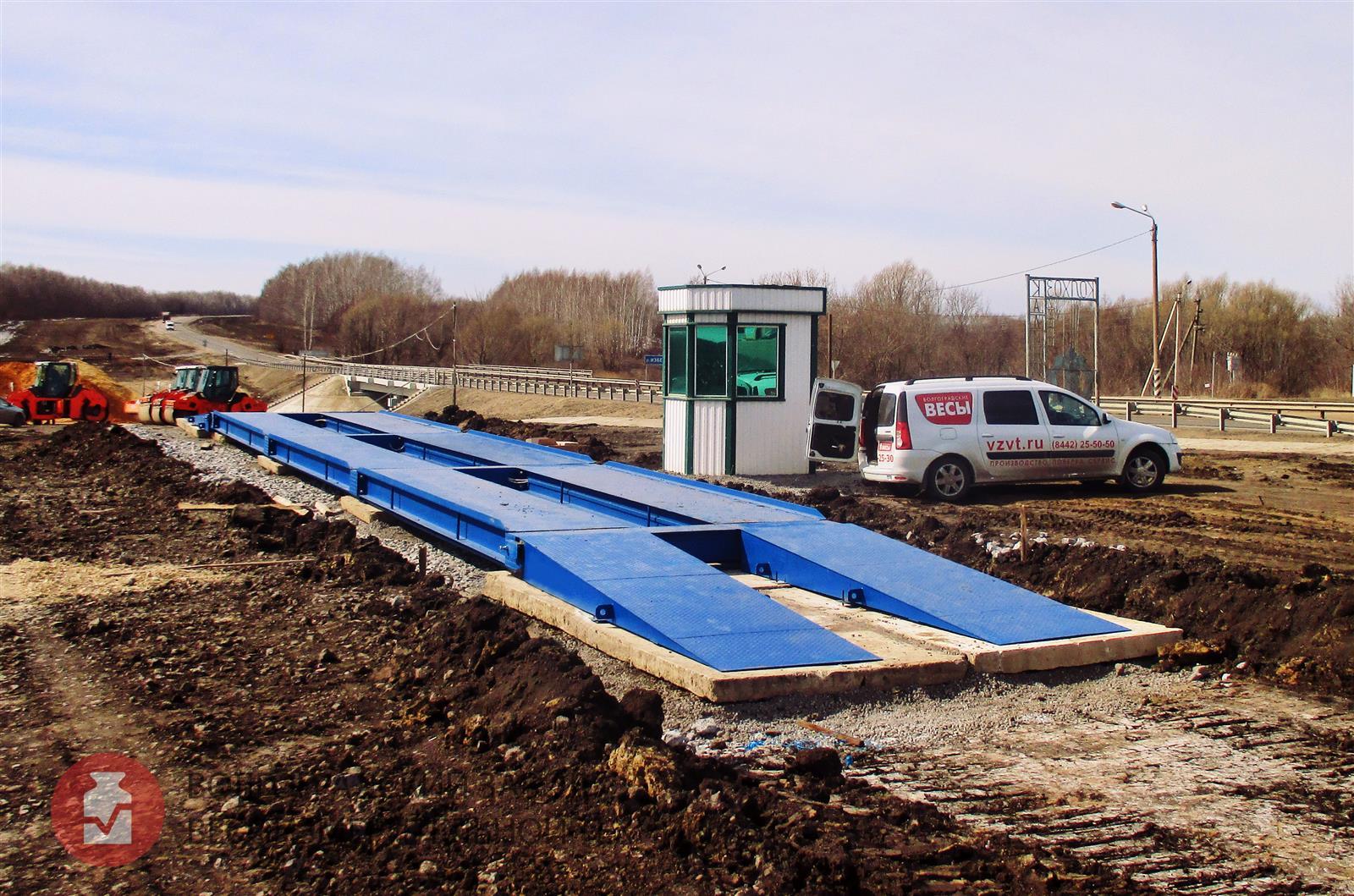 Платформенные автомобильные весы ВАЛ. Вариант установки на дорожные плиты и песчано гравийную подушку. фото #1
