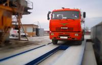 Готовые электронные автомобильные весы. Установлены в Краснодарском крае. На весах грузовой автомобиль, происходит контрольное взвешивание. фото #13