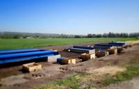 Процесс установки 80 тонных фундаментных автомобильных весов. Монтаж платформы на готовый фундамент. фото #19