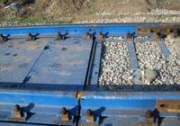 Стыковка железнодорожных рельсов с весоизмерительной платформой. фото #10